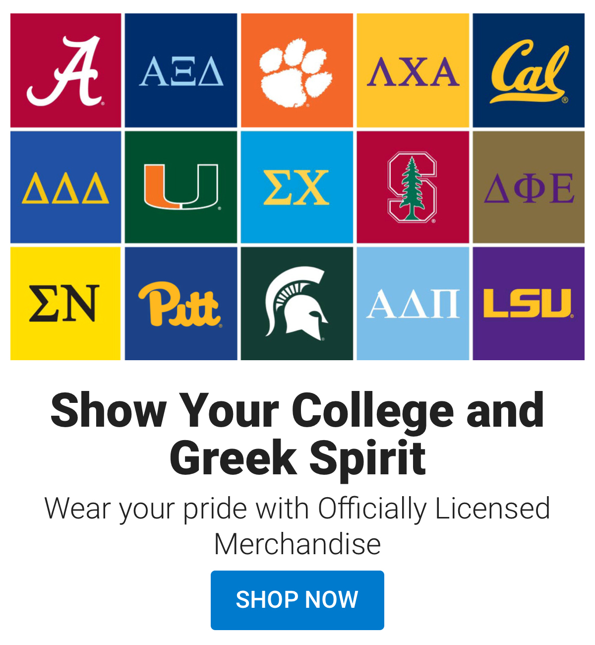 Shop Official College Gear